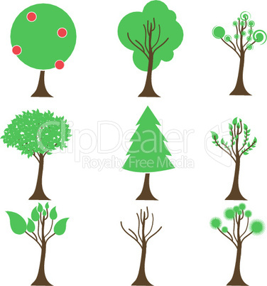 different tree icons
