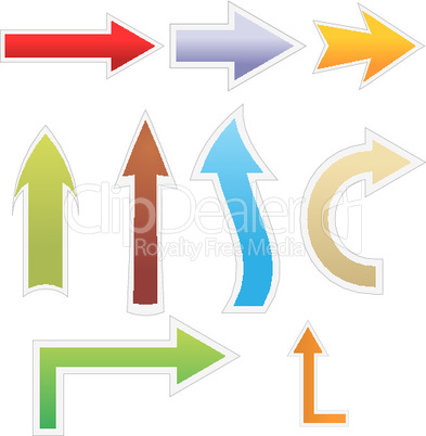 different colorful arrows