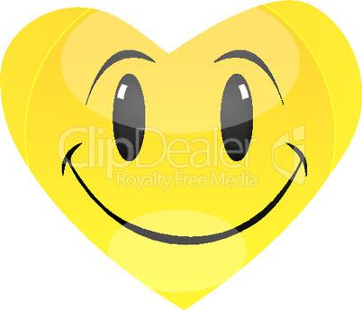 smiley in shape of heart