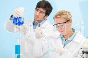 Flu virus experiment -  scientist in laboratory