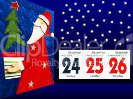 Frohe Weihnachten - Weihnachtsmann - Dezember