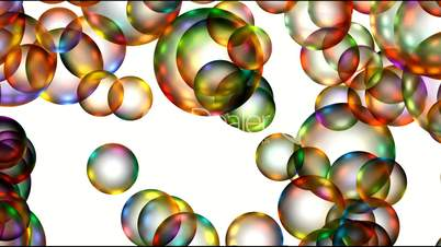 Animation of color balls or bubble,disco mirrorball.Drop,water,mercury,mirror,lens,crystal,jewelry,transparent,Rain,liquid,paint,dye,spray,fountain,