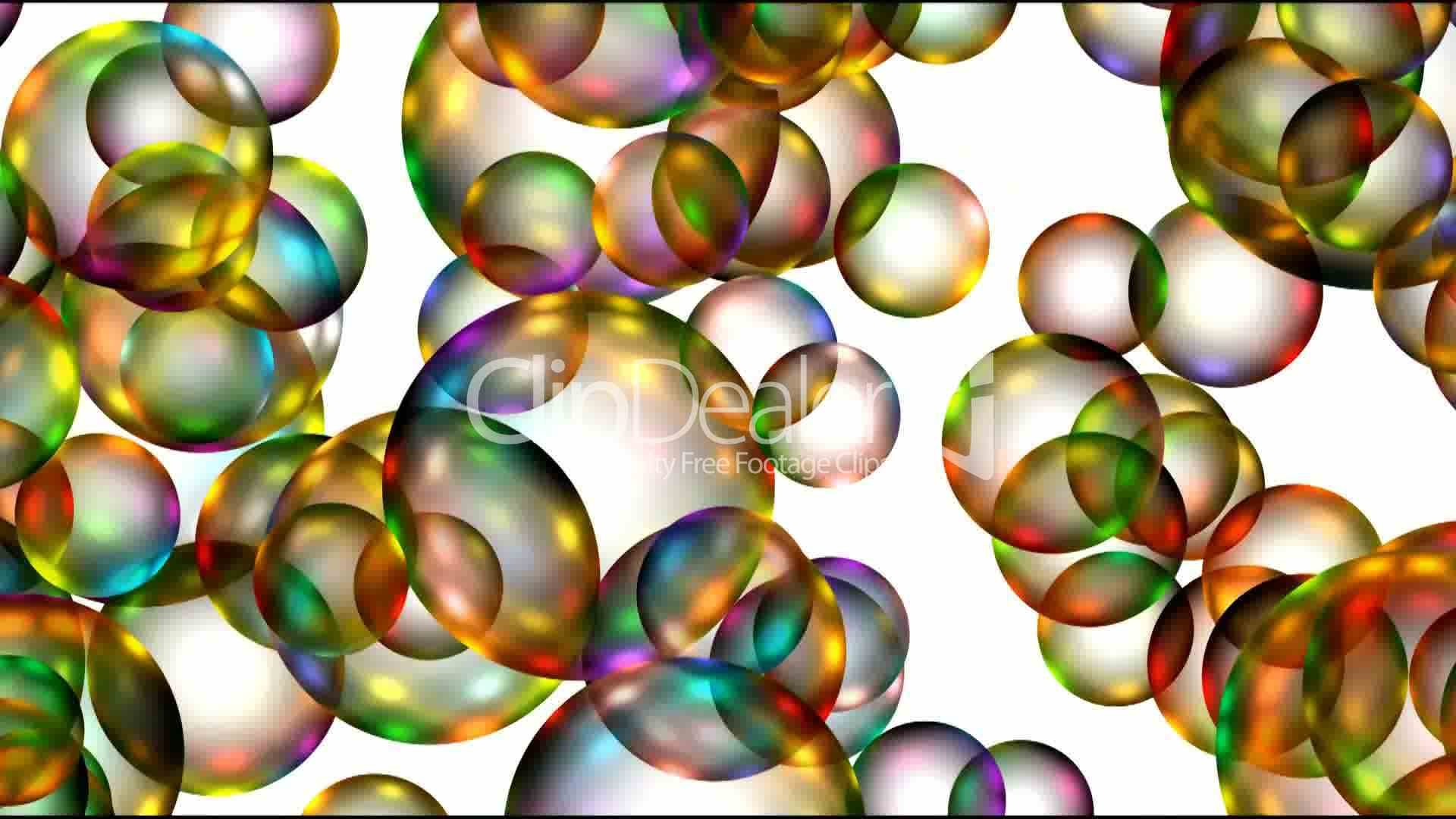 Animation of color balls or bubble,disco mirrorball Drop
