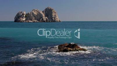 Cliffs in the sea (Full HD)