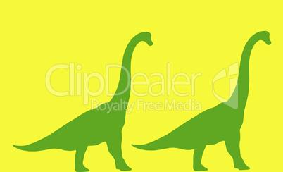 Langhals Dinosaurier im Profil