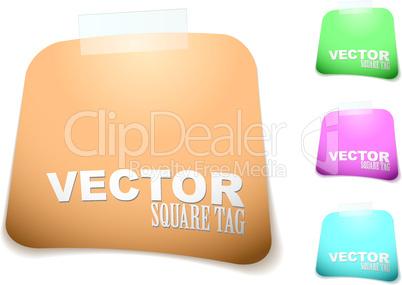 square paper tag