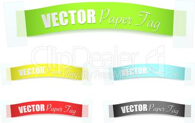 paper sticker tag