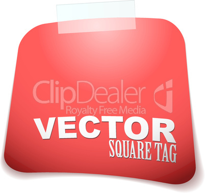 square tag red