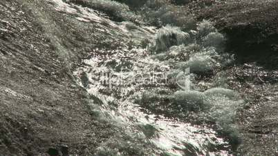 Melt water stream on glacier