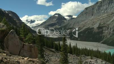 Peyto Glacier and Peyto Lake