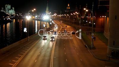 Straßenverkehr in Moskau