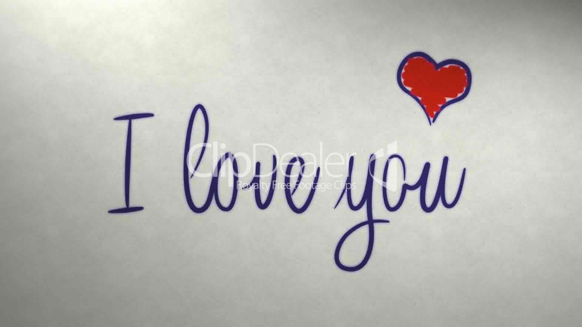 I love you message on newspaper: Royalty-free video and ...