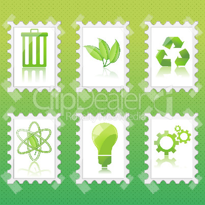 illustration of recycle icons