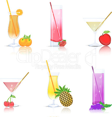 fruit juice on white background