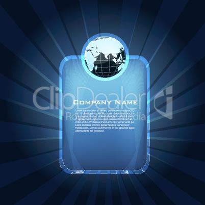 company card with globe