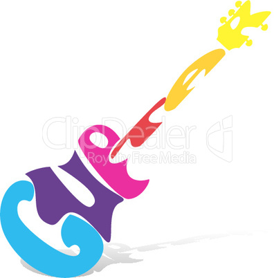 illustration of guitar