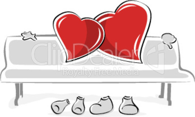 loving hearts on white background