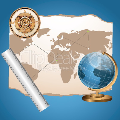 illustration of world journey