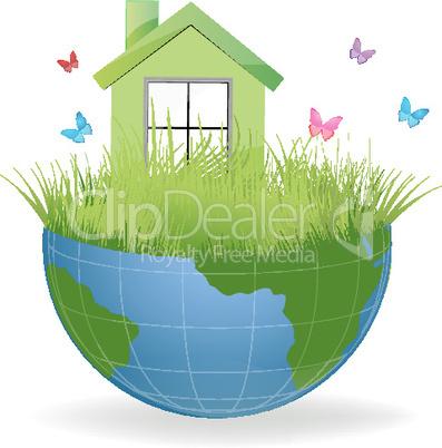 green house on half earth