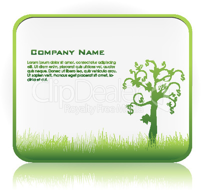 business template with money tree