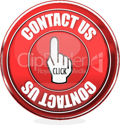 contact us button on isolated background