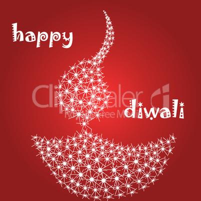 diwali card with diya