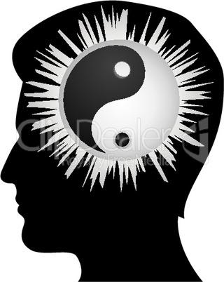 yin yang inside human brain