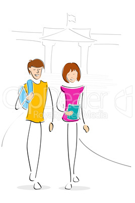 youngsters going to collage