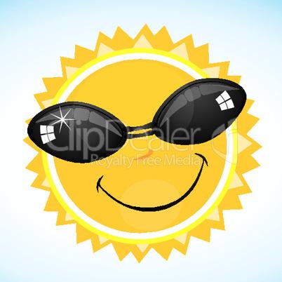 cool smiling sun