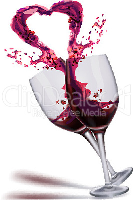 wine splashing from glass