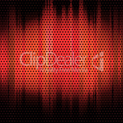 metal grid background red