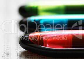 Text Marker - rot blau grün