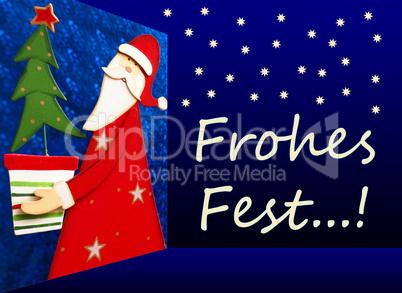 Frohes Fest - Weihnachten 3D Konzept