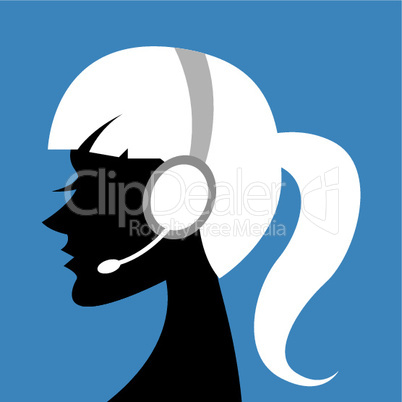 lady with headphone