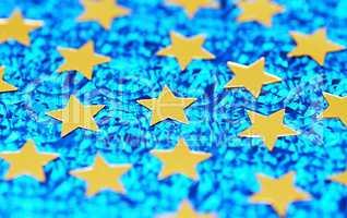 Weihnachtssterne Makro - christmas stars gold blue