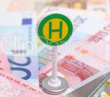 Haltestelle für Geld - Money Concept