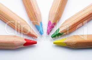 Eckige Buntstifte - Farben - Colourful Crayons
