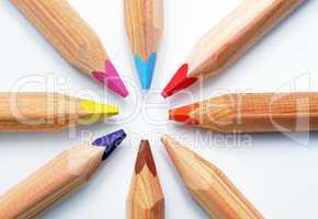 Eckige Buntstifte - Crayons - Farben