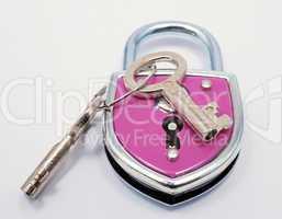 Schloss pink - colourful lock