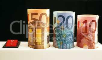 Stromleiste Energiekosten Euros - Energy Costs