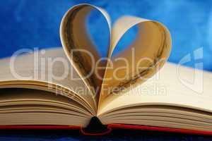 Old Book with Heart - Buch mit Herz