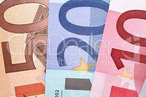 Euro Geldscheine Nahaufnahme - Euros Macro