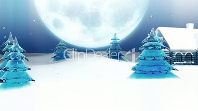 Christmas Eve and Peaceful Town