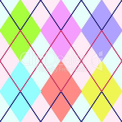 Vector colorful argyle
