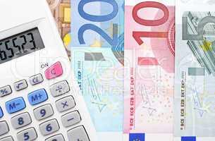 Taschenrechner mit Euros - Calculator with Euros