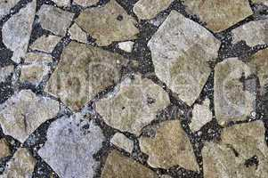 The pavement of granite