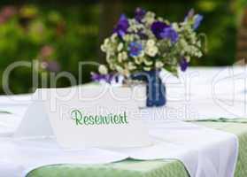Reservierung im Restaurant