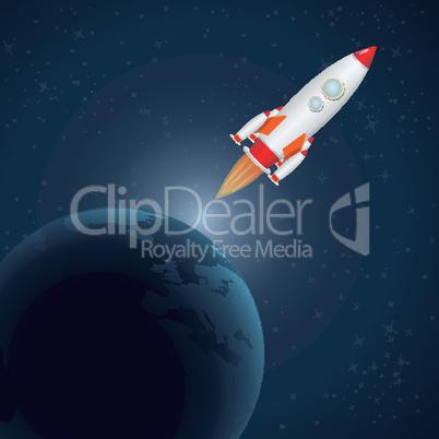 rocket in universe