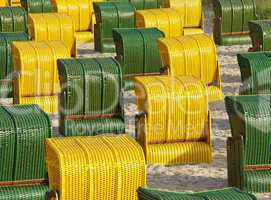 Beach Chairs Evening Sun - Strandkörbe Abendsonne