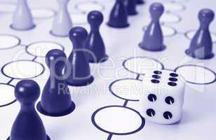 Würfelspiel - Parlor Game blue